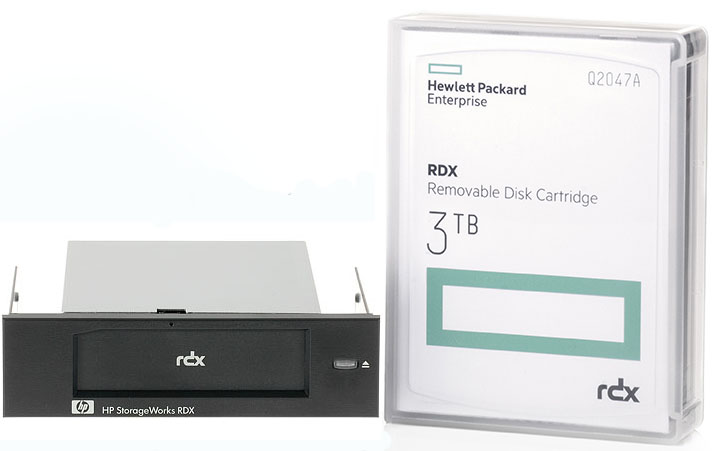 HP RDX 3TB Internal USB 3.0 Docking Station Bundle (3TB Cart. plus Int. RDX Dock) Part# P9L71A