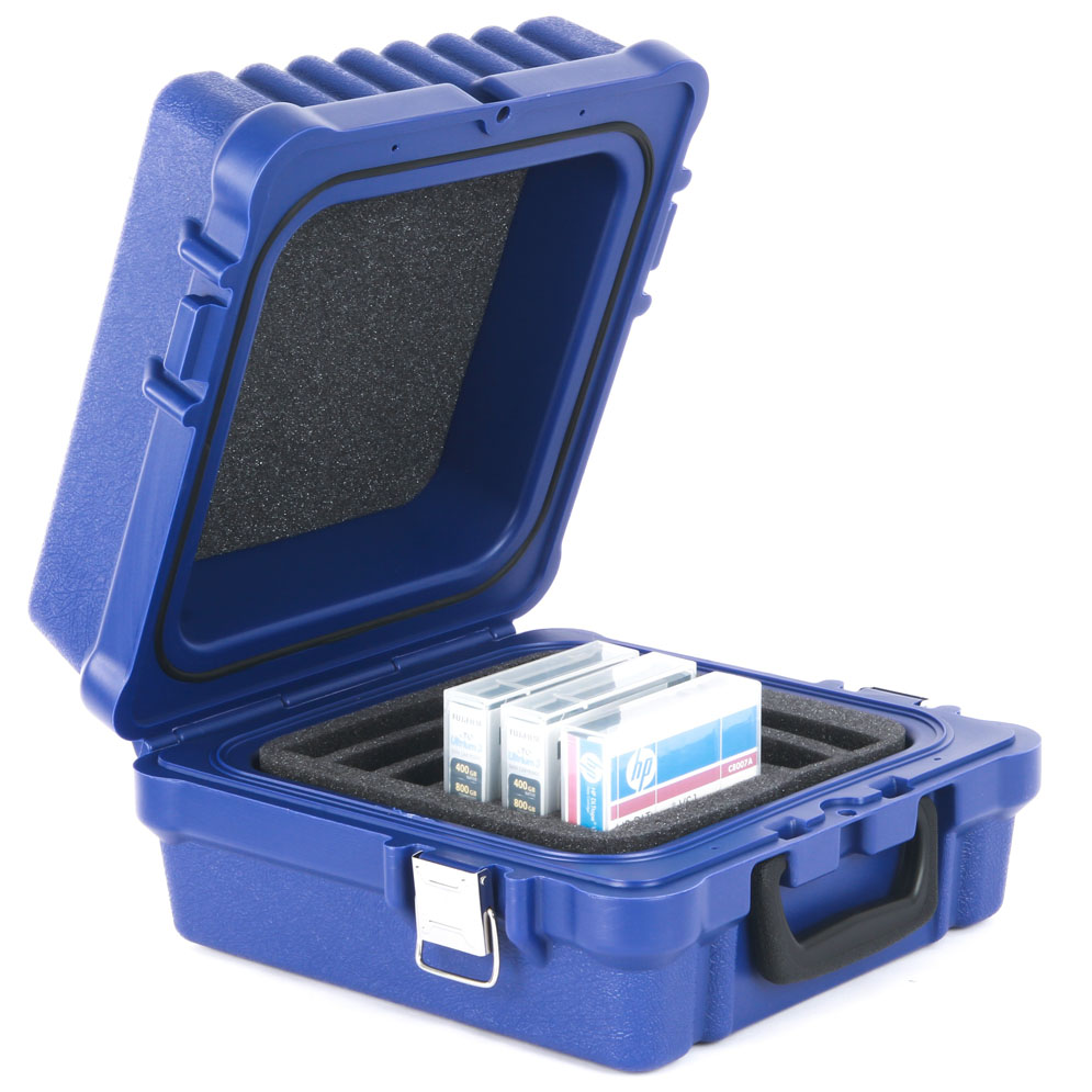 Delightful Turtle Storage Case   Capacity 10 Slots Fitted For RDX Cartridges Blue  Waterproof   Part# 01 679103
