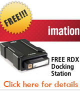 FREE Imation RDX Docking Station with Purchase of Imation RDX Cartridges