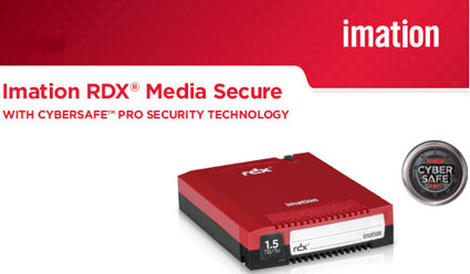 Imation RDX Secure Media - 320GB, 500GB, 1TB and 1.5TB with CyberSafe