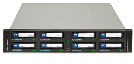 RDX QuikStation by Tandberg Data - 8 Bay 2U Removable Disk Storage Library (empty chassis) Part# 8900-RDX